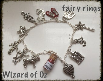 Wizard of Oz inspired Charm Bracelet