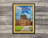 Downton Abbey Poster |Downton Abbey travel poster |  Vintage look print | Vintage travel