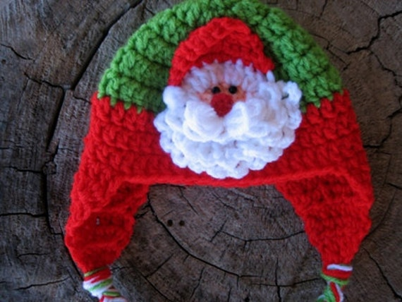 Crochet Pattern Santa Hat Baby : Baby Santa Hat Crochet Pattern