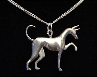 Greyhound Ibizan Hound Necklace - Podenco Beezer Greyhound Jewelry