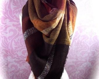 super soft blanket scarf/cozy scarf/fall color scarf