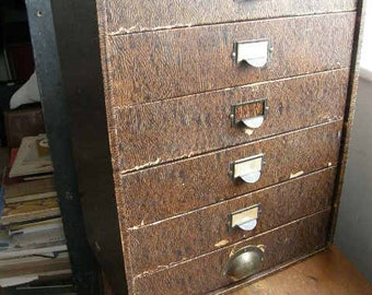 1940s or 50s six drawer office desk top filing boxes or drawers, kitchen or office,free uk postage