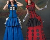 UNCUT Costume Sewing Pattern Simplicity 0232 or 1095 Size 6-8-10-12-14-16-18-20-22 Steampunk, Fantasy, Halloween Costume, Skirt, Corset