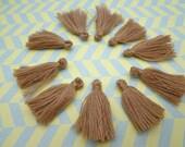 Wholesale 20pcs light coffee  tassels silk tassels satin tassels Jewelry tassels for decorating tassels