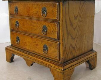 Queen Anne oak chest apprentice piece reproduction