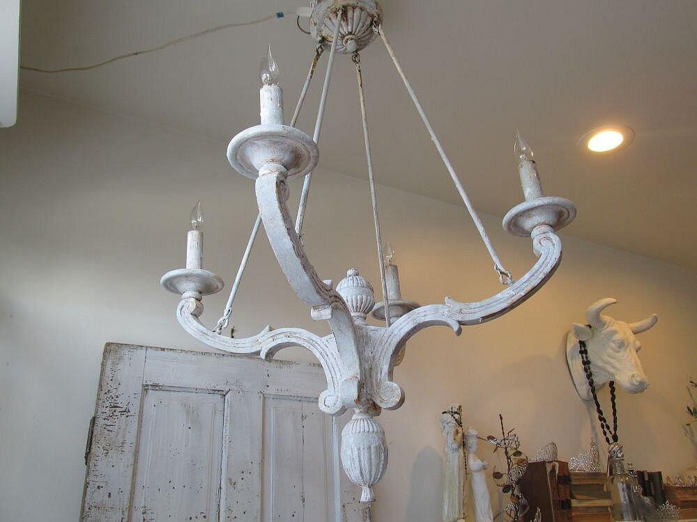 French farmhouse wooden chandelier lighting lg by AnitaSperoDesign