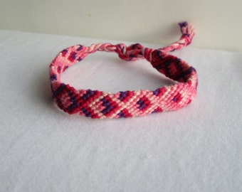 SALE!!!!!!!!!!! Friendship bracelet - Chevron - Pink - purple - girly