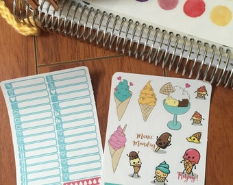 A La Carte: Ice Cream Deco Sheet
