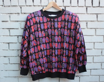 Vintage NEIMAN MARCUS Sweater Designer Vtg Fashion High End Warm Winter Clothing Fall crewneck sweatshirt