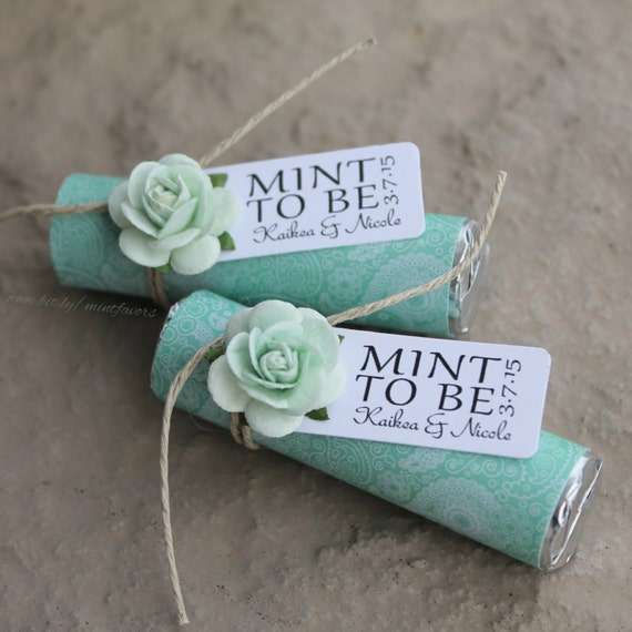 Mint Wedding Ideas: Mint Wedding Favors Set Of 24 Mint Rolls Mint To