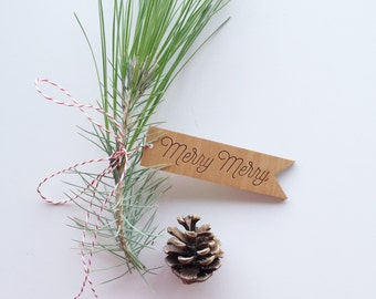 Holiday Assorted — Holiday Gift Tags, Christmas Gift Tags, Wood Gift Tag From Santa