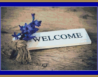 Welcome Cross Stitch Pattern