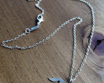 Sterling silver fox necklace/ fox necklace/ silver/ fox