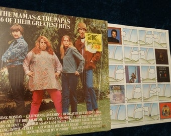 Vintage 1969 Mamas and Papas Vinyl Record Album 16 of Their Greatest Hits Shrink Dream My Girl California Dreamin' Monday Twist and Shout