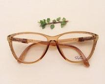 80s Saphira eyeglasses / Vintage deadstock embellished sunglasses / women's carved frames / rare jeweled Eyewear /nos strass baroque glasses