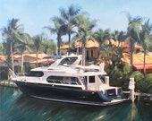 Yacht Painting Fine Art - Oil on Canvas Personalized Portrait from Photo - Great Approval Process