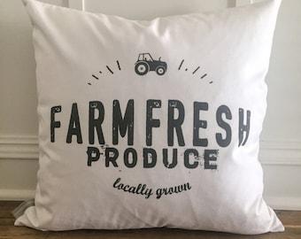 Farm Fresh Produce Pillow Cover