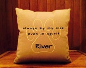 Always By My Side Even In Spirit Pet Loss Pillow personalized with pet's name