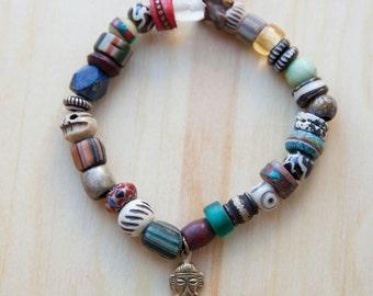 Exotic Beaded Bracelet with Ganesha Charm