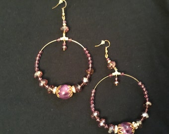 Purple and gold hoops