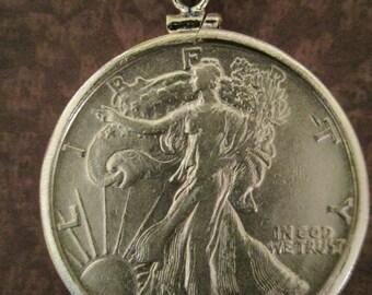 Walking Liberty Half Dollar Coin Pendant