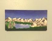 ASPEN original one of a kind winter mountain landscape acrylic painting art