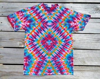 Small Tie Dye Shirt,  Adult Tie Dye Shirt,  Rainbow,  Hippie Top, Deadhead,  Festival,  Ready to Ship,  Tie Dye T-Shirt