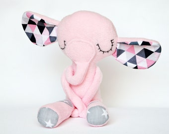 Soft Pink elephant. Lovely and safe toy.