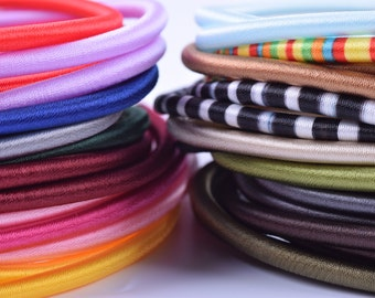 19 Colors-10pcs 5.0mm Round Choker Necklaces/Collar with Extension Chain