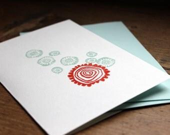 Perfect Pop Handmade Block Print Card
