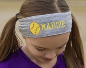 Softball Headband, Baseball Headband, Softball Accessory, Active Wear, Embroidered Headband, Custom Headband, Monogrammed Headband
