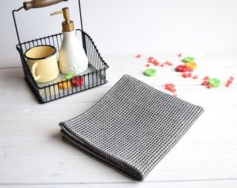 Linen towel, Waffle towel, Towel linen, Bath towel, SPA towel, Linen bath sheet, Modern linen towel, Sauna towel, Travel towek, black