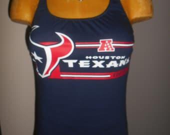 Houston Texans halter top DIY Reconstructed Football