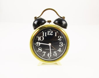 A German Wind-up Clock by Westclox - Wind-up Clock With Alarm - Portable Alarm Clock - Made in Germany - Ready to Use