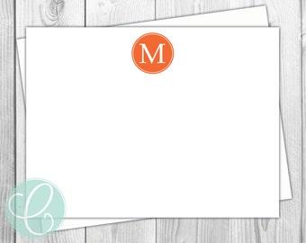 Flat Note Cards - Monogram - Set of 12