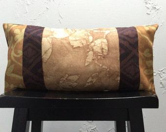 Bohemian Batik Pillow Cover, 14x26 Decorative Pillow Cover- Tribal Lumbar Pillow- 16x22 Decorative Pillow Cover