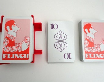 Vintage Flinch card game 1970s Retro Game night Fathers Day