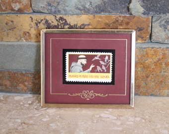 Stamps & Stories Francis of Assisi framed postage stamp - 1982 postage stamp - Texas Stamps framed postage stamp - mint condition stamp