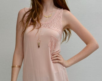 SALE Hi-lo Tank Pocket in Dusty Rose