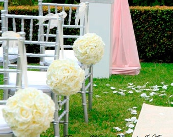 Wedding Pomanders, KISSING BALLS, Wedding Decor, Flower Balls, Church Decoration, Wedding, FLower Girl Poms, Custom Decorations, Decor
