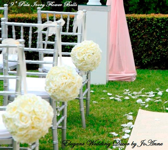Wedding Pomanders KISSING BALLS Wedding Decor Flower Balls