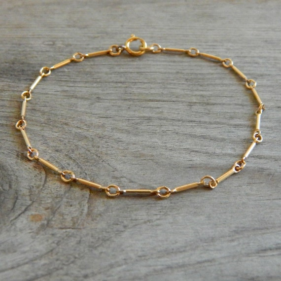 Tiny Gold Bracelet Dainty Bracelet Thin Chain Bracelet Gold