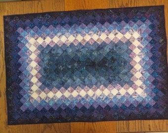 Table Runner/Wall Hanging, Trip for Two to Boston, Runner, Table Topper, Batik quilt, homemade quilt, patchwork quilt, sofa quilt, batiks