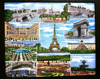 Prayers for Paris, Paris France, Folk art, whimsical
