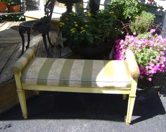 vintage stripe bench