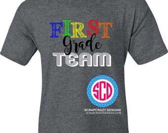 Teacher Team, First Grade Team, Teacher shirt, Teacher Apparel, adult clothing, teacher, squad clothing, teacher clothing