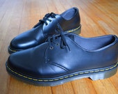 Dr. Martens / Black / Mens Lace-up Oxford Shoes / 3 Eyelet / Big and Tall / Size US 14 / UK 13 / EU 48 / Vegan
