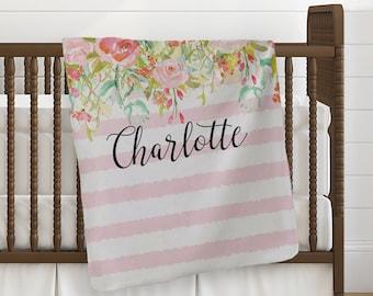 Personalized Baby Blanket, Custom Receiving Blanket, Baby Crib Blanket, Custom Baby Shower Gift, Newborn Swaddling Blanket