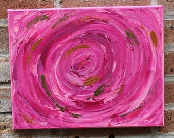 Original Abstract Acrylic Painting on 9 x 12 inch canvas by artist Missy Kaza