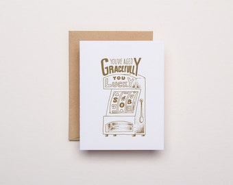 Lucky SOB Birthday Card - Letterpress Birthday Card